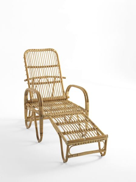Danish bamboo Deckchair called Liggestolen