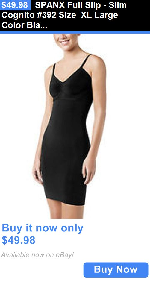 Women Shapewear: Spanx Full Slip - Slim Cognito #392 Size Xl Large Color Black BUY IT NOW ONLY: $49.98