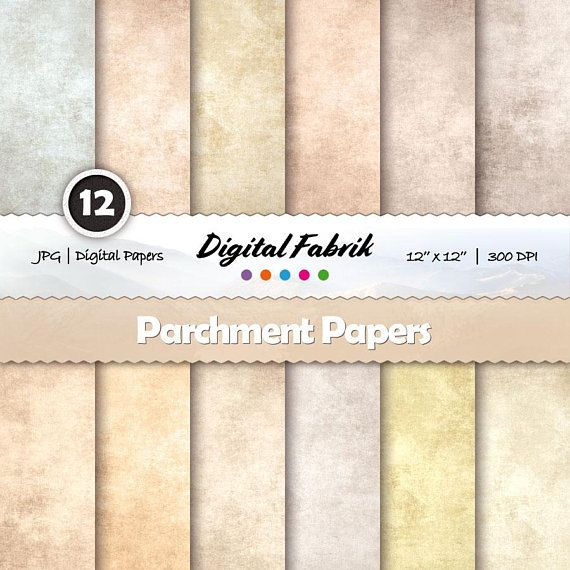 Parchment digital paper, scrapbook paper, 12 digital papers, Old digital paper pack, 12x12 jpg, digital download, personal or commercial use