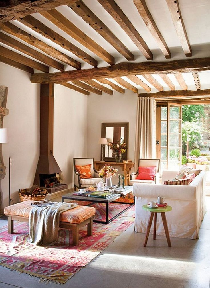 Best CRISTALEIRAS ANTIGAS Images On Pinterest Furniture - Cozy wooden country house design with interior in colors of provence