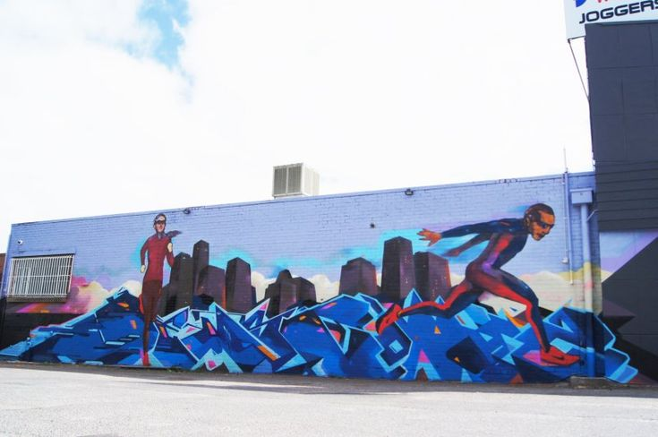 Adelaide-Graffiti - Cold Krush Store/Gallery -Joggers World outlet on Fullarton Road