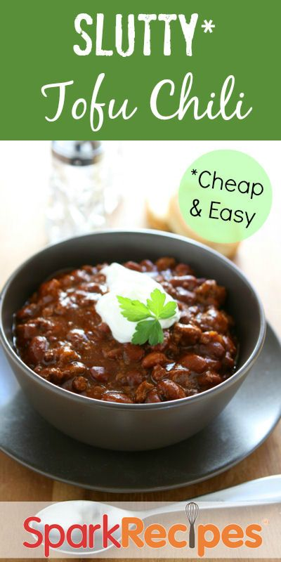 Meatless chili is quick, frugal, low in fat and has a good amount of protein.  Freezes well.