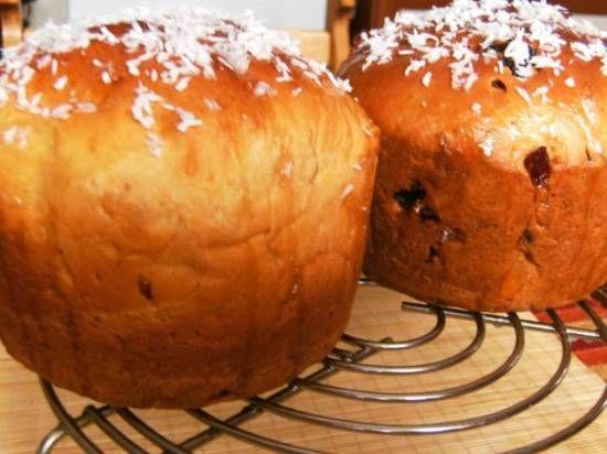 Кулич пасхальный (на основе рецепта к хлебопечке Bork)