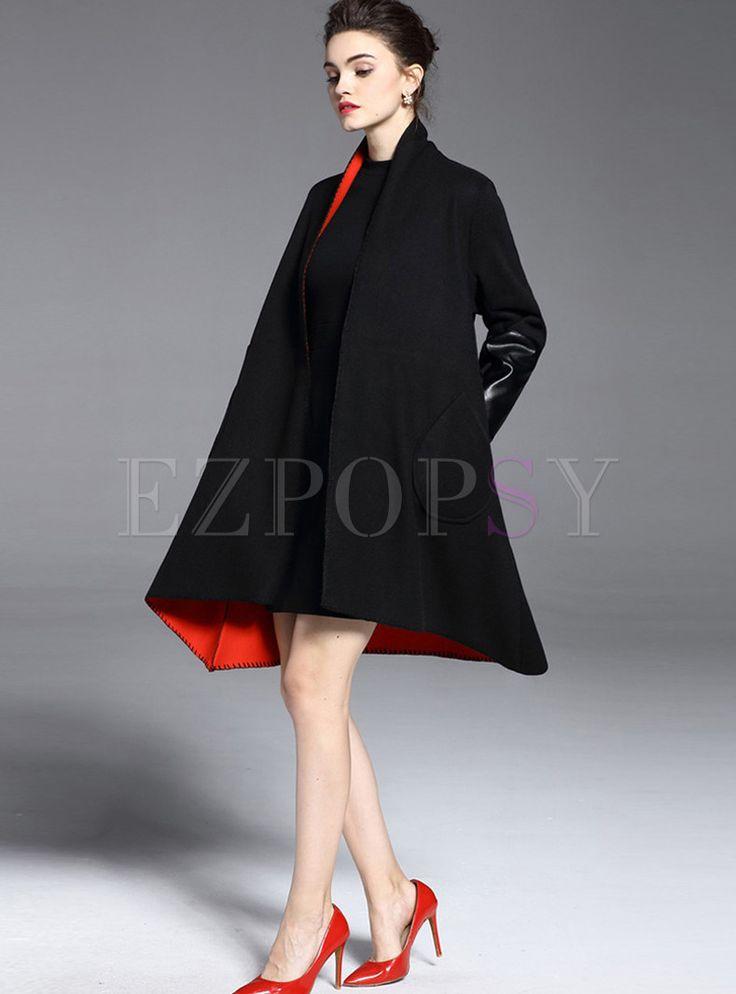 Loose Large Size Woolen Coat