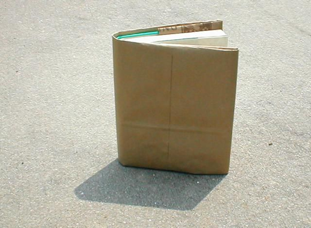 Old School! How to Make a Paper-Bag Book Cover - Ten Easy Steps