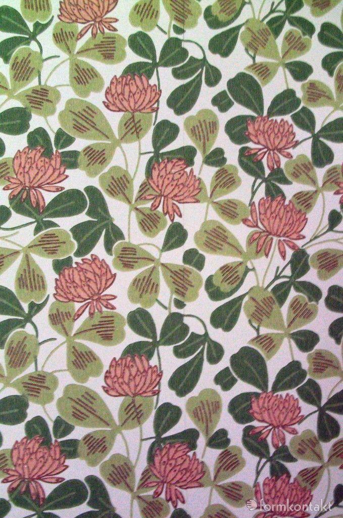 Nice pattern on old wallpaper, Gamla tapeter, www.formkontakt.se