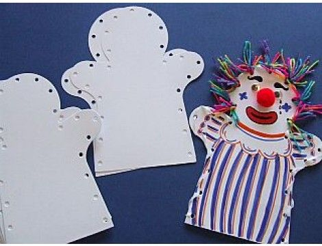 White Card Hand Puppets
