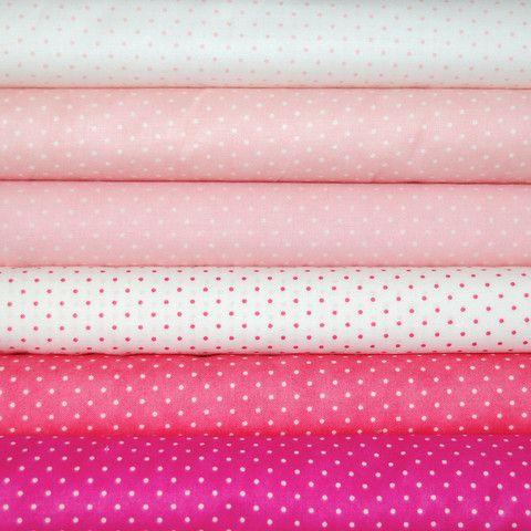 FQ Bundle Moda Essential Dots Pinks x6  di Blondedesign BiasBinding su DaWanda.com