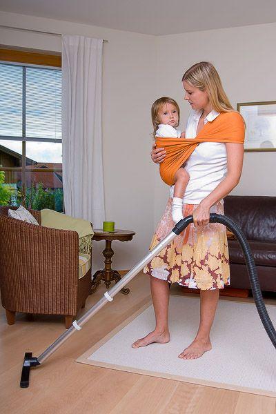Hausarbeit mit Kind im Tuch?No problem!