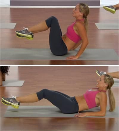 Seated Leg U's - 10 Moves for a Flat Stomach - Shape Magazine - Page 7