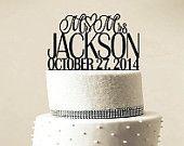 Custom Wedding Cake Topper Personalized Monogram by LASERWORLD