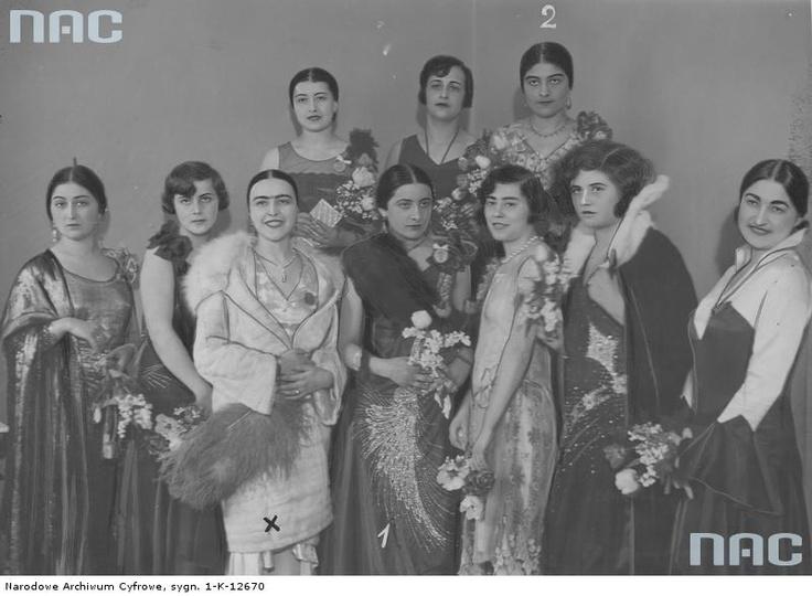 """Wybory """" Miss Judei"""" w Warszawie , 1929"""