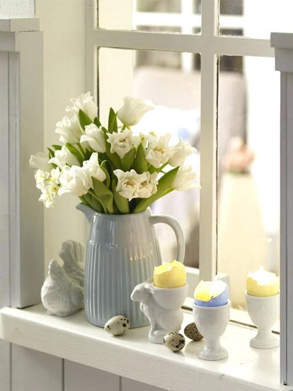 Image Result For Bathroom Windowsill Decor Ideas Easter Window Decorations Easter Decorations Outdoor Decor