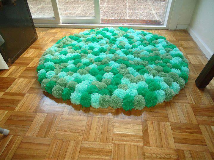 348 best Pompom images on Pinterest Crafts, Pom pom rug and Pom - tapeten für küche