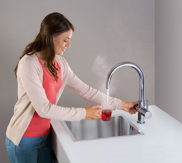 The Grohe Red Faucet Has An Added Knob That Can Instantly Provide Boiling  Hot Water At And Can.