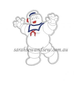 Ghostbusters Marshmallow Man Inspired Embroidery by SarahSewSew, $4.00