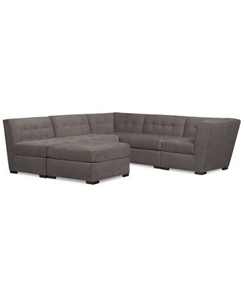 Image 2 of Roxanne Fabric 6-Piece Modular Sectional Sofa with Ottoman, Created for Macy's