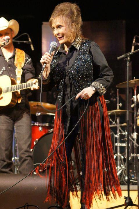 Loretta Lynn, on stage at her annual Labor Day Weekend Concert, at the Ranch in Hurricane Mills - 2012 (Courtesy Owen Bradley's Quonset Hut)