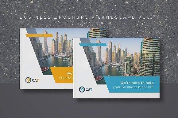 Business Brochure - Landscape Vol. 1 by FathurFateh on Creative Market