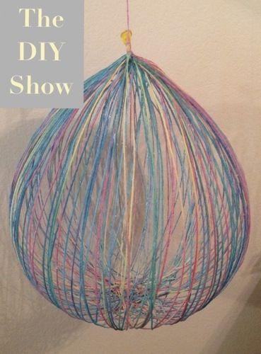 yarn balloons hangings