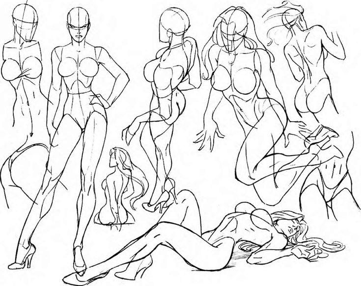 Sexy comic girl pose — 8