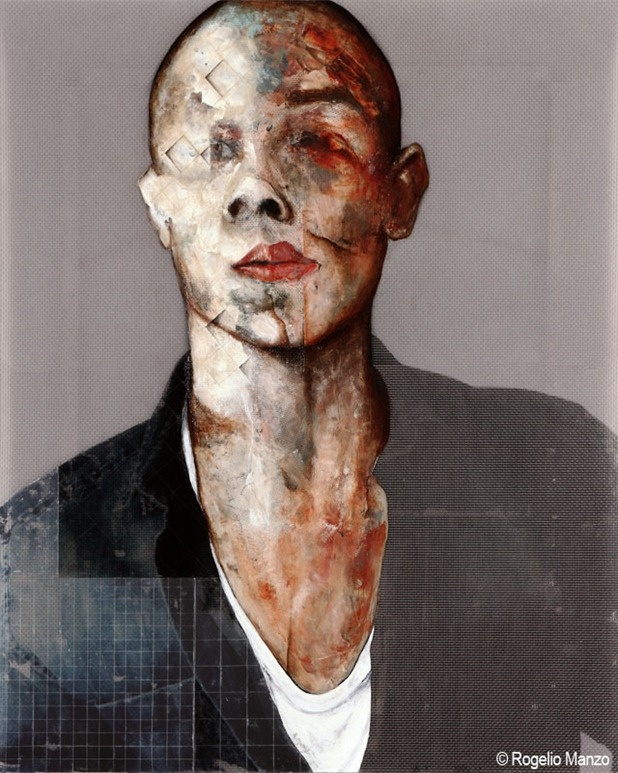 Rogelio Manzo, grotesk work like Francis Bacon.