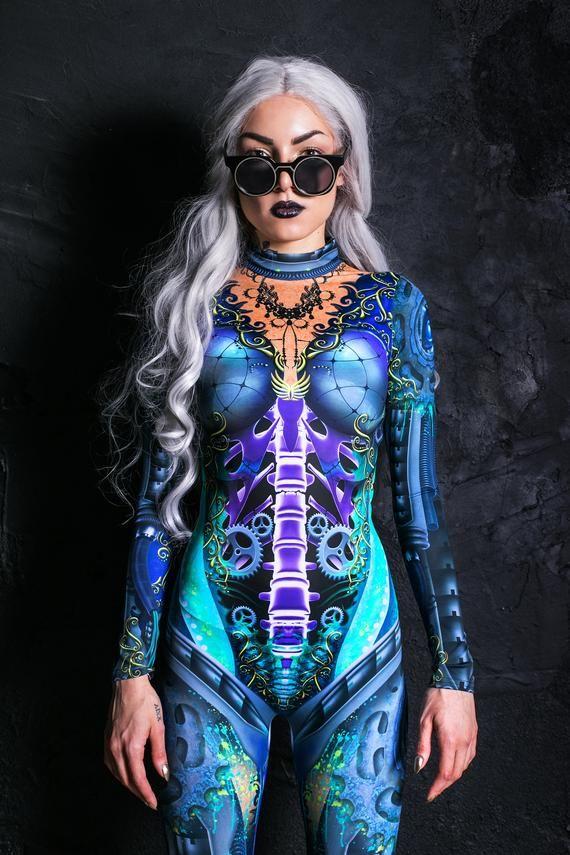 Burning Man Costumes, bodysuit women, rave catsuit