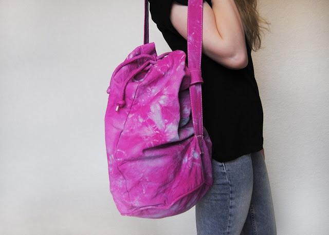 This Fashion Is Mine: DIY Tie-Dye Duffel Bag