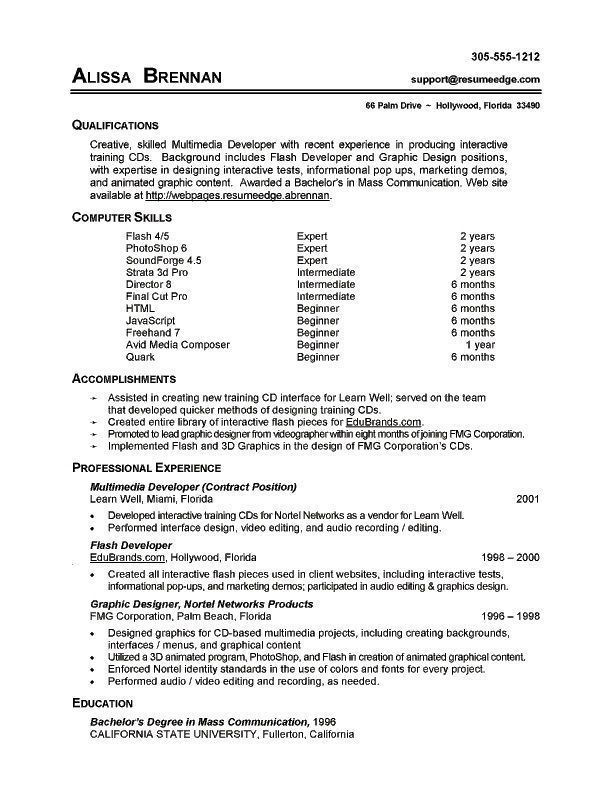 example of computer skills for resumes