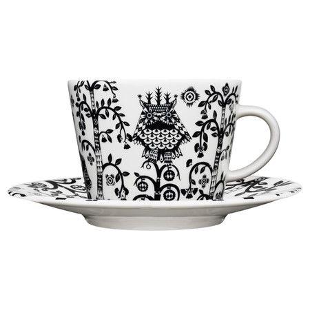 Iittala Taika Cappuccino Cup in Black #owl