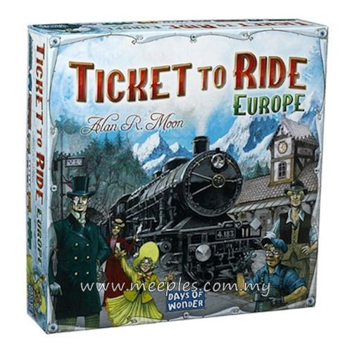 Ticket to Ride: Europe - Another gift from Uncle Clive.