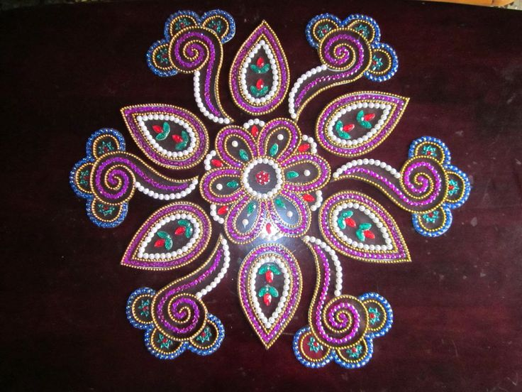 One Stop For Indian Handicrafts: Kundan Rangoli