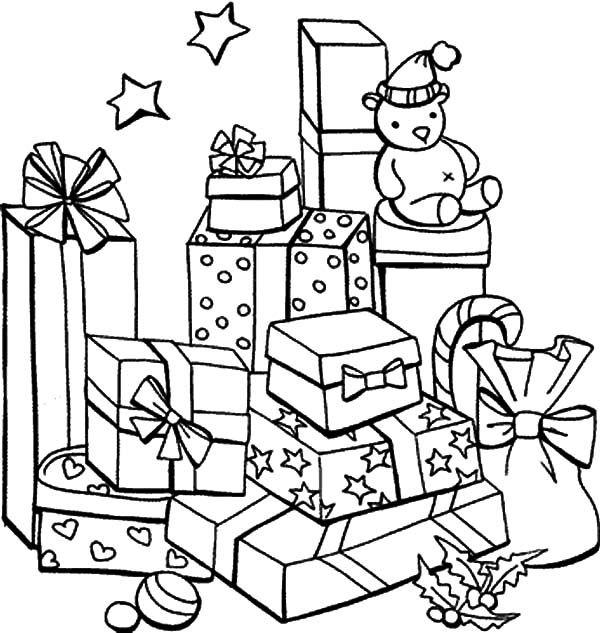 Christmas Presents Mountain Of Christmas Presents Coloring Pages Christmas Present Coloring Pages Christmas Coloring Books Coloring Books