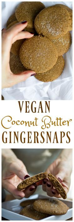 A delicious take on classic gingersnaps. These Vegan Gingersnaps have coconut butter in them to give them an extra dose of sweetness, flavor and buttery-ness. These are perfectly sweetened, spicy just enough and so moist! Perfect to impress guests that wo
