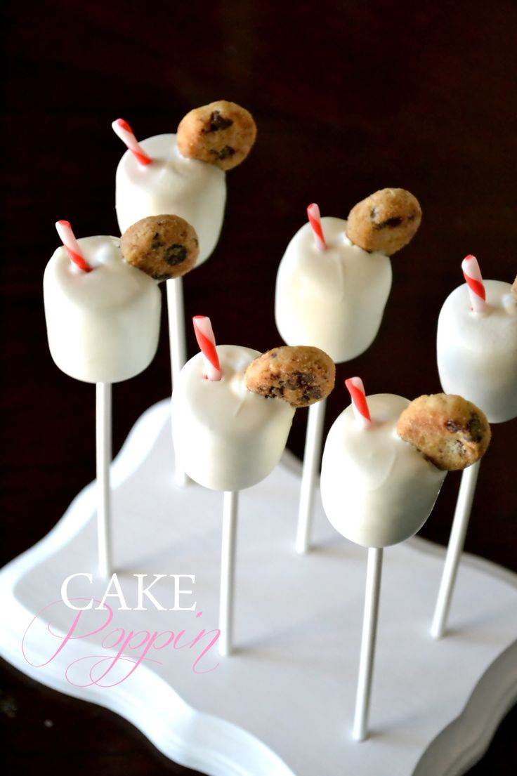 Milk and cookies cake pop tutorial from Cake Poppin