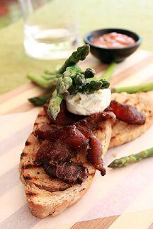 Biltong & Asparagus Toastie [ NYBiltong.com ] #biltong #recipe #flavor