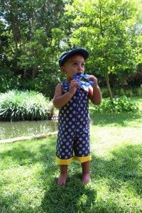 Reversible romper made from 100% cotton south african shweshwe by www.mokopu.co.za