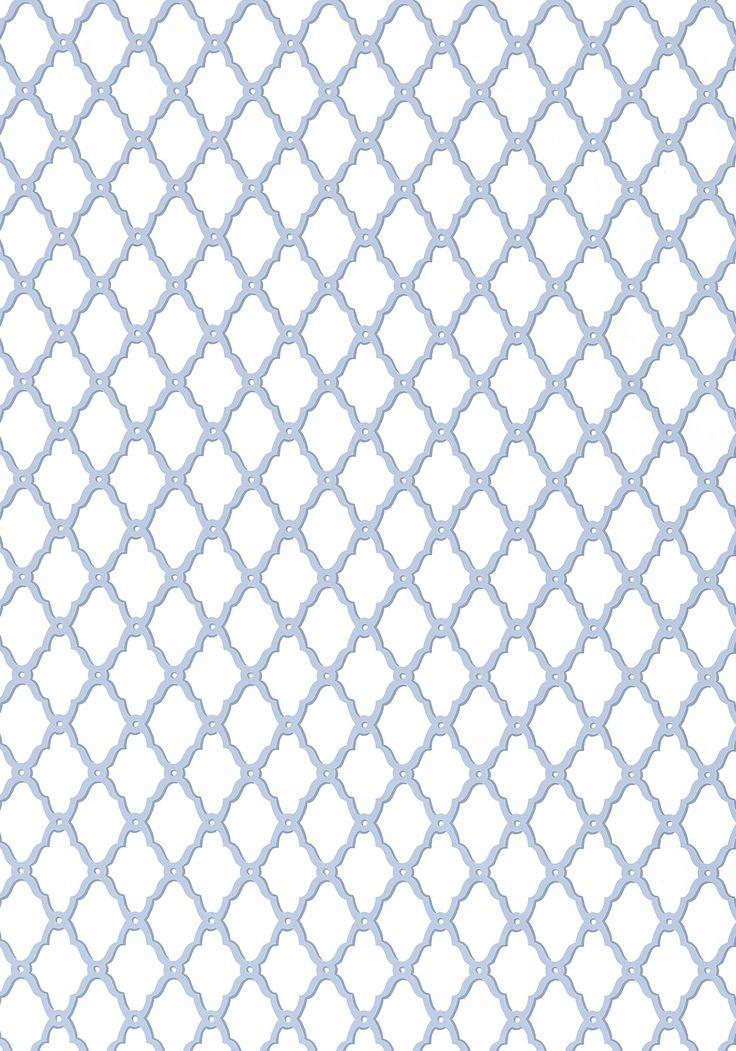 Rothbury Trellis Blue T1820 Collection Geometric