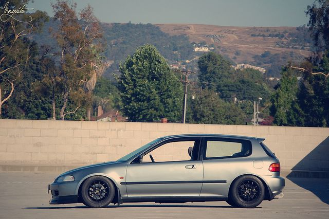 Honda Civic EJ (EG) Hatch via .maguito on Flickr - I want those 949 Racing Wheels!