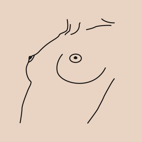 Boobs illustration / Look me in the eyes