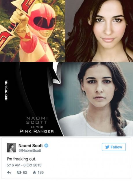 The Martian's Naomi Scott is the Pink Ranger in Power Rangers Reboot! What do you think?