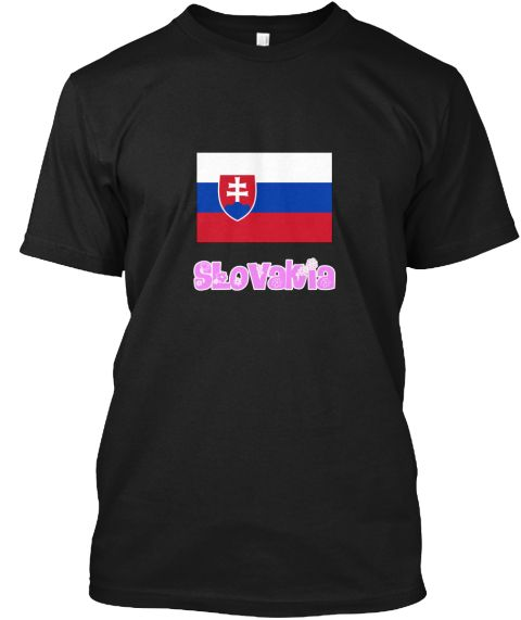 Slovakia Flag Pink Flower Design Black T-Shirt Front - This is the perfect gift for someone who loves Slovakia. Thank you for visiting my page (Related terms: I Heart Slovakia,Slovakia,Slovakian,Slovakia Travel,I Love My Country,Slovakia Flag, Slovakia Map,Sl #Slovakia, #Slovakiashirts...)