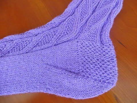Как вязать пятку носка  Вариант 2 «Косынка». Link download…
