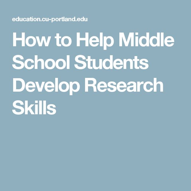 how to teach writing skills to middle school students