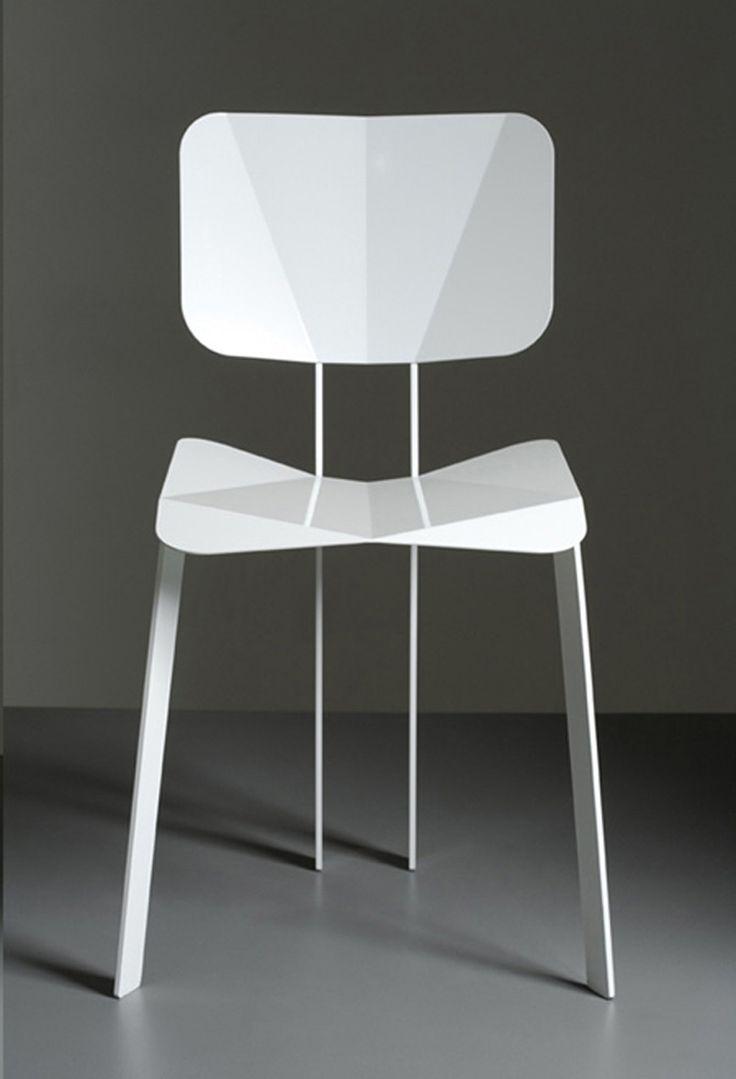 minimalist origami chair design