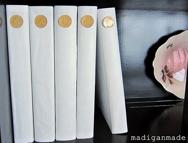Ballard-inspired covered books with seals - thanks Madiganmade.com! DIY tutorial
