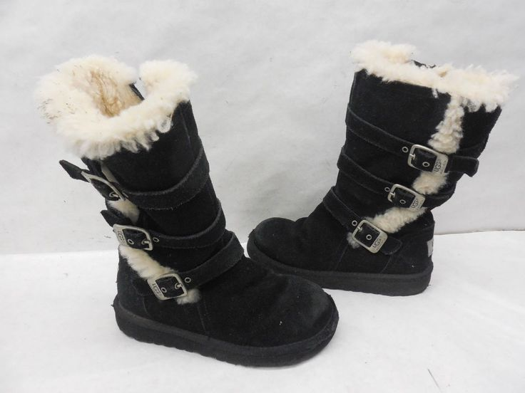 UGG Australia 1001520 Suede Maddi Mid Calf Sheep Shearling Lined Boots 13