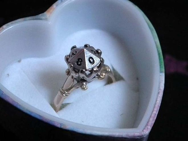 23 adorkable wedding rings for geeks in love