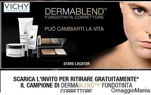 Campione omaggio fondotinta Vichy Dermablend - http://www.omaggiomania.com/campioni-omaggio/campione-omaggio-fondotinta-vichy-dermablend/