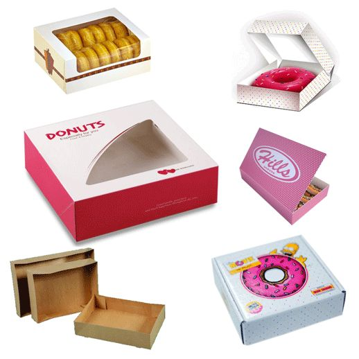 Donut Packaging Boxes with Free Shipping. Also avail our Free Design Services to have several templates' design choices for your donut boxes without die cut and setup fees. Just brief your specs to our skilled graphics team and they'll come up with likable artwork preferences complying with your requirements.